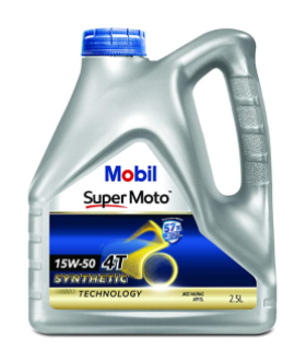 Mobil Super Moto 4T Synthetic Technology 15W-50 Motorcycle Engine Oil