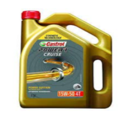 CASTROL Power 1 Cruise 15W50 2.5LTR Synthetic Performer Engine Oil for Royal ENFIELDS