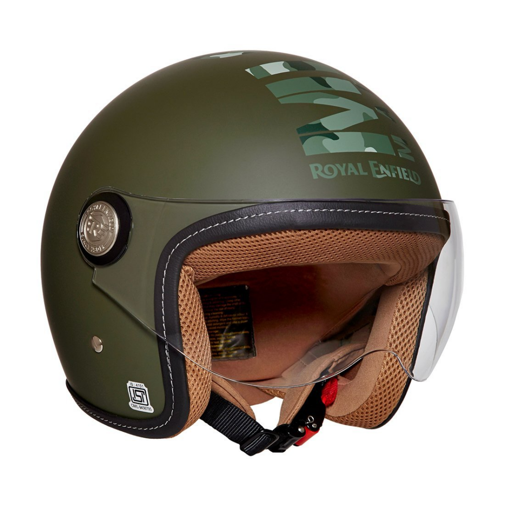 Royal Enfield Jet Open Face with Visor Helmet