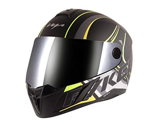 Vega Evo BT Track Dull Black Neon Yellow Helmet